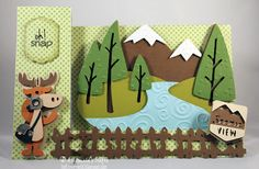 Wonderful wilderness card featuring Campin Critters and K Andrew Designs All About Animals stamp set