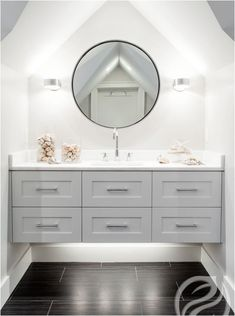 One design trend I've noticed taking shape for 2016 is the modern floating vanity in bathrooms. These can be done with more traditional paneling and door fronts or a very contemporary sleek look. I th