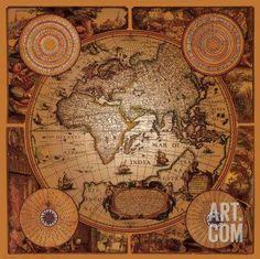 Antike Landkarte, Cartographica I Kunstdruck at eu.art.com