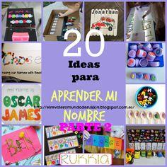 ideas.aprender.escribir.nombre Preschool Crafts, Crafts For Kids, Letter Recognition, School Themes, Reggio Emilia, Ideas Para, Montessori, Back To School, Activities For Kids