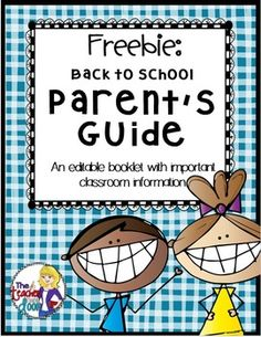 Freebie! Great tool to give to parents at Back To School Night. It organizes important classroom information and serves as a handy reference guide.I love it because it also serves as a talking point tool for my Back To School speech.