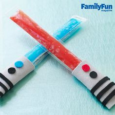 Freeze Pop Sabers: Feel the force of ice-cold refreshment -- and keep hands unfrozen -- with these felt cozies.