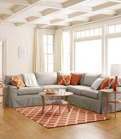 Portland Sectional Sofa Set  $3,299.00  Removable slipcovers are easy to clean and hold up to the rigors of daily use. Linen is 50% cotton, 50% linen, others are 100% cotton. Wash and dry in large ...