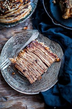 Nutella chocolate and hazelnut crepe cake. Delicious dessert idea | More recipes like this at www.redonline.co.uk