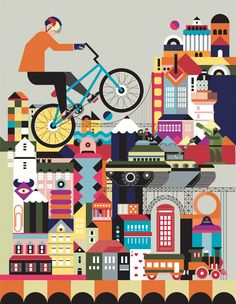 The Ride Journal: bicicletas e ilustración