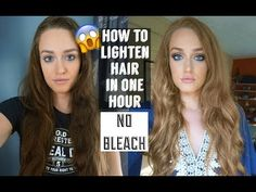 Lighten Hair Drastically With No Bleach How To Lighten Brown Hair, Lighten Hair At Home, Lighten Dyed Hair, Lighten Hair Naturally, How To Dye Hair At Home, At Home Hair Color, Natural Hair Bleaching, Bleaching Hair At Home, Diy Bleach Hair