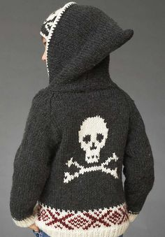 this is actually a girl's sweater, but I could adapt it for a pirate grandboy I think