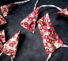 Guirlande lumineuse en papier japonais