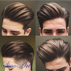SinoArt Men's Hairpiece Human Hair Toupee Wig Super Thin Skin Hair Replacement ( Off Black) : Beauty Mens Hairstyles With Beard, Hair And Beard Styles, Hairstyles Haircuts, Haircuts For Men, Trendy Hairstyles, 2018 Haircuts, Modern Haircuts, Medium Hairstyles, Wedding Hairstyles