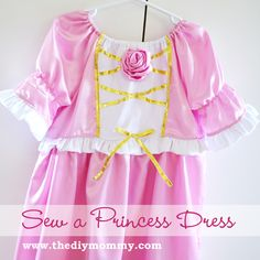 Princess Dress Tutorial from The DIY Mommy--printable pattern sizes 2-5