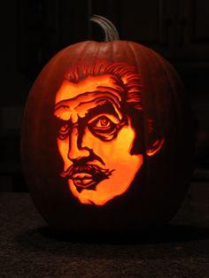 Vincent Price Pumpkin Carving.