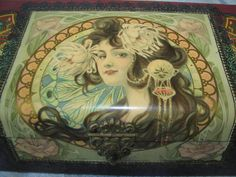 Stunning Antique Art Nouveau Celluloid Glove Box Mucha Era Style | eBay