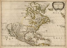 Map of North America by Nicolas Sanson (1650); cartography with incomplete information, always amusing #SSCI301