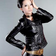 Cotton sheepskin leather clothing short design slim Women women's genuine leather clothing $471.80
