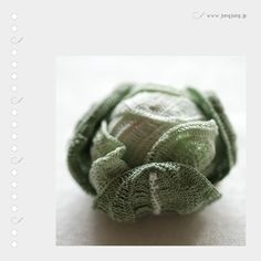 crocheted cabbage!