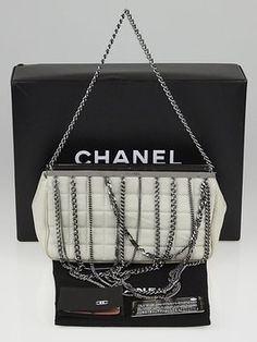 393a9391bba3 Chanel Quilted Lambskin Leather Multi-chain Bar Clutch Shoulder Bag. Get  one of the