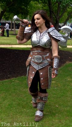 Skyrim Steel Armour TheAnti-Lily female armor costume cosplay LARP armor clothes clothing fashion player character npc | Create your own roleplaying game material w/ RPG Bard: www.rpgbard.com | Writing inspiration for Dungeons and Dragons DND D&D Pathfinder PFRPG Warhammer 40k Star Wars Shadowrun Call of Cthulhu Lord of the Rings LoTR + d20 fantasy science fiction scifi horror design | Not Trusty Sword art: click artwork for source