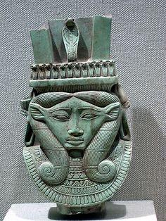Sistrum fragment in the shape of a Hathor head ♥ #bluedivagal, bluedivadesigns.wordpress.com