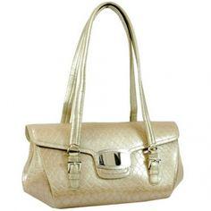 Dasein Desinger Inspired Patent Leatherette Shoulder Bag-Purple