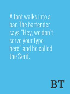Typographic jokes