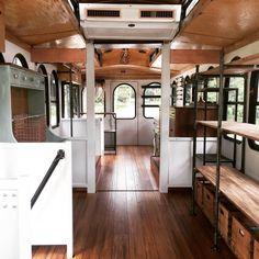 Thirteen West - a traveling gift boutique build out - Davenport, Iowa | trolley shop | interior remodel | bus renovation | mobile gift shop | boutique | mobile shop | mobile fashion truck | tiny home | mobile boutique