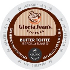 Green Mountain Gloria Jean's Coffees, Butter Toffee, K-Cup for Keurig Brewers