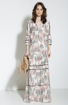Vestido longo de seda | Coleção Café Society