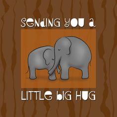 Little Big Hug - Sterkte kaarten - Kaartje2go