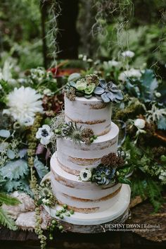 Naked Cake, Woodlands Cake, White Wedding Cakes, #grownfromearthy editorial featured in @utterlyengaged  Magazine Volume 3, Destiny Dawn Photography, by the amazing Sweet Celebrations Wedding Cakes