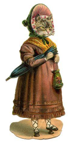 Regency bonnet, shawl, umbrella, reticule, patterns, & slippers GraphicsFairy.jpg