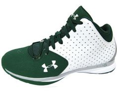 Men's Under Armour Manhattan Jasper's Green & White Basketball Shoes Size 12