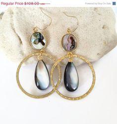 Abalone Earrings, Resort Fashion, Hawaii Resort Jewelry, Hawaii Beach Jewelry by Aina Kai Jewelry https://www.etsy.com/shop/AinaKai