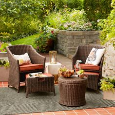 Belvedere 5 Piece Chat Set Threshold Image 1 Of 9 Patio Seatingpatio Tablebackyard