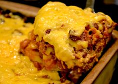 This must-try Tamale Pie combines an authentic-tasting cornmeal crust, spicy chili sauce and oodles of cheese