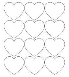 printable Valentine's Day hearts