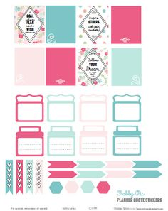 Free printable download of planner quotes and planner stickers for personal organizers or other types of papercrafting use Free for personal use only.