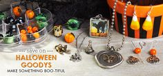 Save Big on Halloween Beads and Charms. Make festive Halloween Jewelry with supplies from Goodybeads.com.