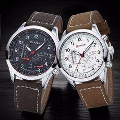c6543cc4fc CURREN 8152 Men PU Leather Band Live Waterproof Quartz Watch