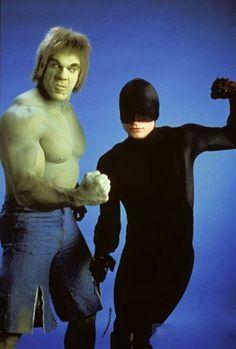 Lou Ferrigno Hulk and Rex Smith Daredevil