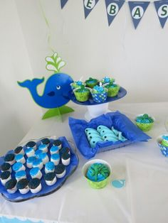 Our baby boy baby shower... whale baby shower