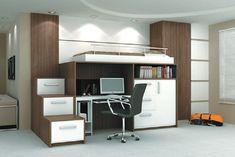 quarto com beliche escritorio e closet - Pesquisa Google