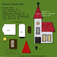 Alex's Creative Corner: Church punch art instructions