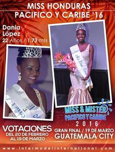 MISS HONDURAS PACIFICO Y CARIBE 2016 - DANIA LOPEZ