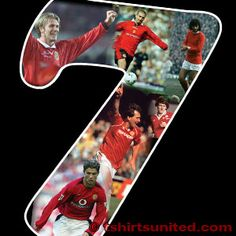 """Manchester United the history Football Team, Manchester United, Number 7, The Unit, Baseball Cards, History, Skirt, Historia, Football Squads"