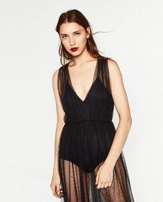 ZARA - WOMAN - TULLE BODYSUIT DRESS I WANT THIS SO BAD