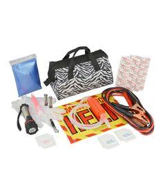 8741d77c61 This Zebra Bag Emergency Roadside Set by Bell Automotive is perfect!   zulilyfinds Roadside Emergency