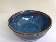 handmade blue bowl  ceramic bowl-pottery serving bowl