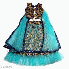 Lehenga Cholis Modern Trendy Kids Girls Lehanga Choli Top Fabric: Cotton Silk Lehenga Fabric: Jacquard Dupatta Fabric: Net Sleeve Length: Short Sleeves Top Pattern: Zari Woven Lehenga Pattern: Zari Dupatta Pattern: solid Stitch Type: Stitched Multipack: 1 Sizes:  4-5 Years (Lehenga Waist Size: 19 in Lehenga Length Size: 20 in Duppatta Length Size: 1.5 m)  3-4 Years (Lehenga Waist Size: 19 in Lehenga Length Size: 20 in Duppatta Length Size: 1.5 m)  7-8 Years (Lehenga Waist Size: 19 in Lehenga Length Size: 20 in Duppatta Length Size: 1.5 m)  9-10 Years (Lehenga Waist Size: 19 in Lehenga Length Size: 20 in Duppatta Length Size: 1.5 m) Country of Origin: India Sizes Available: 3-4 Years, 5-6 Years, 7-8 Years, 9-10 Years   Catalog Rating: ★4.2 (478)  Catalog Name: Modern Trendy Kids Girls Lehanga Cholis CatalogID_1065271 C61-SC1137 Code: 936-6682260-6171