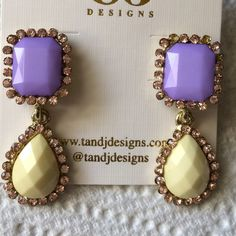 Pastel drop purple earrings Lead and nickel free. Made of base metals and resin. Poshmark transactions only. Smoke free, cat friendly home. T&J Designs Jewelry Earrings