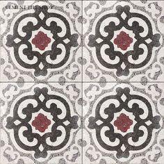 Cement Tile Shop - Handmade Terrazzo Cement Tile | Geneva Red